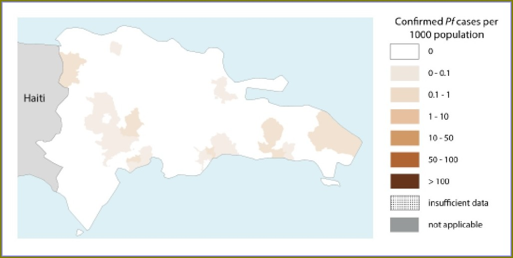 Dominican Republic Malaria Map