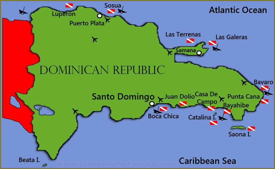 Dominican Republic Snorkeling Map