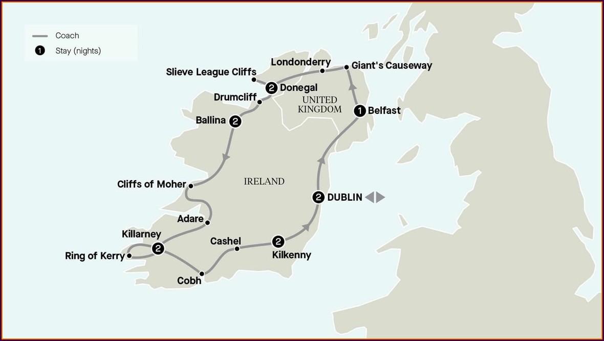 Dublin Freedom Pass Map