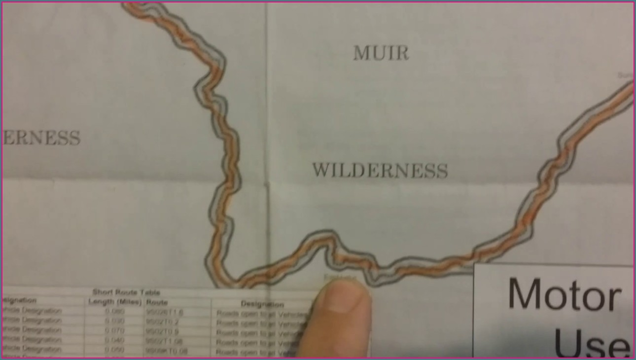 Dusy Ershim Trail Map