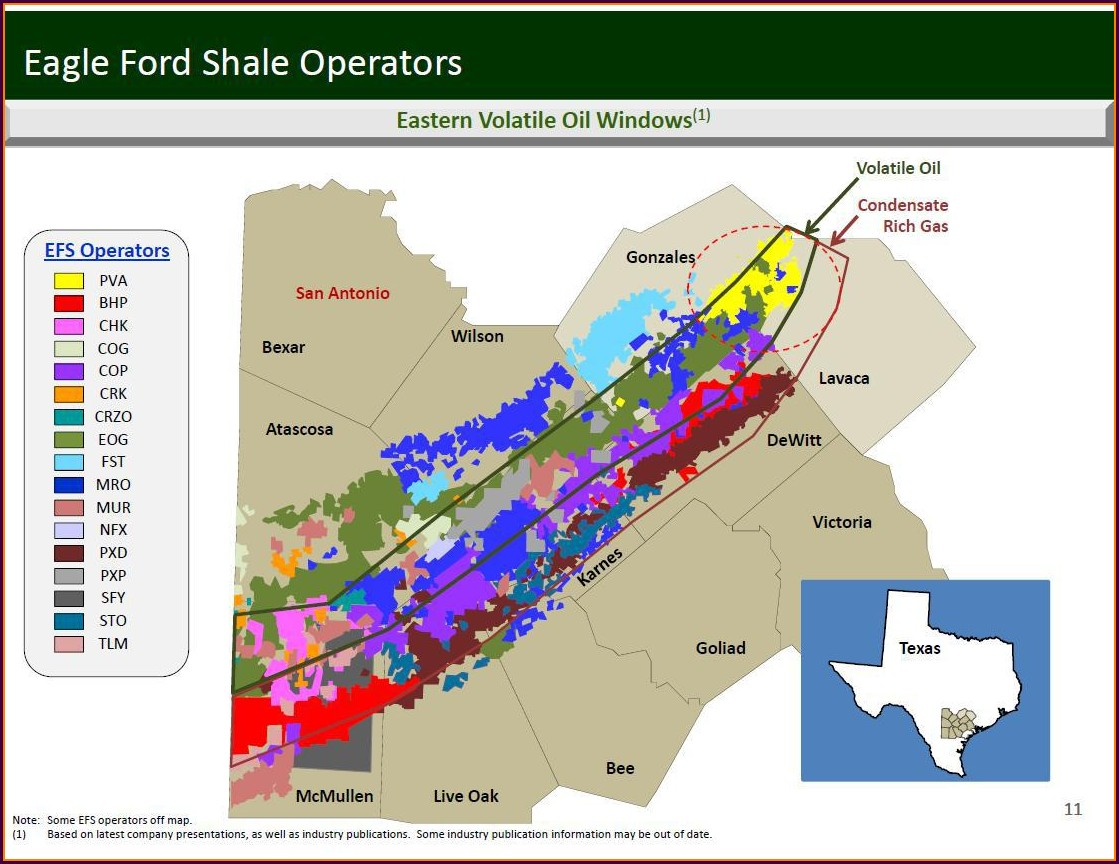 Eagle Ford Shale Operators Map