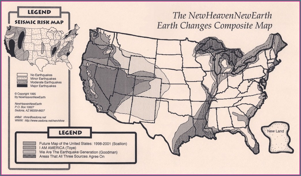 Edgar Cayce Future Map Of North America