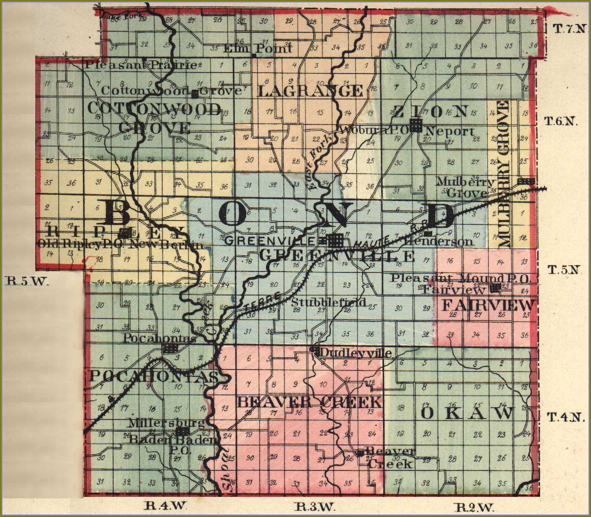 Effingham County Il Plat Maps