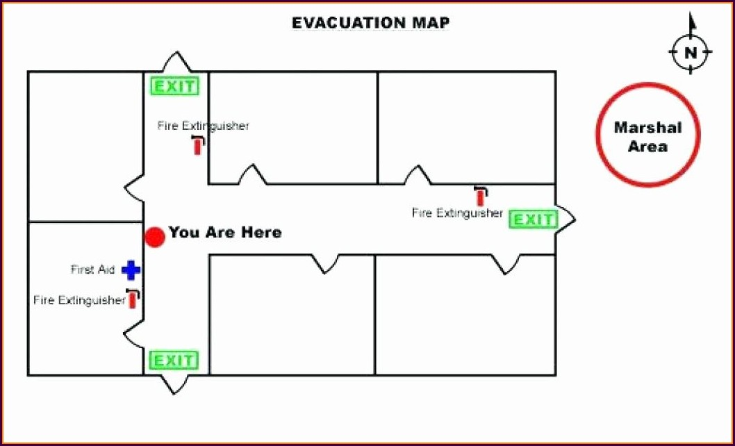 Emergency Exit Map Template Free