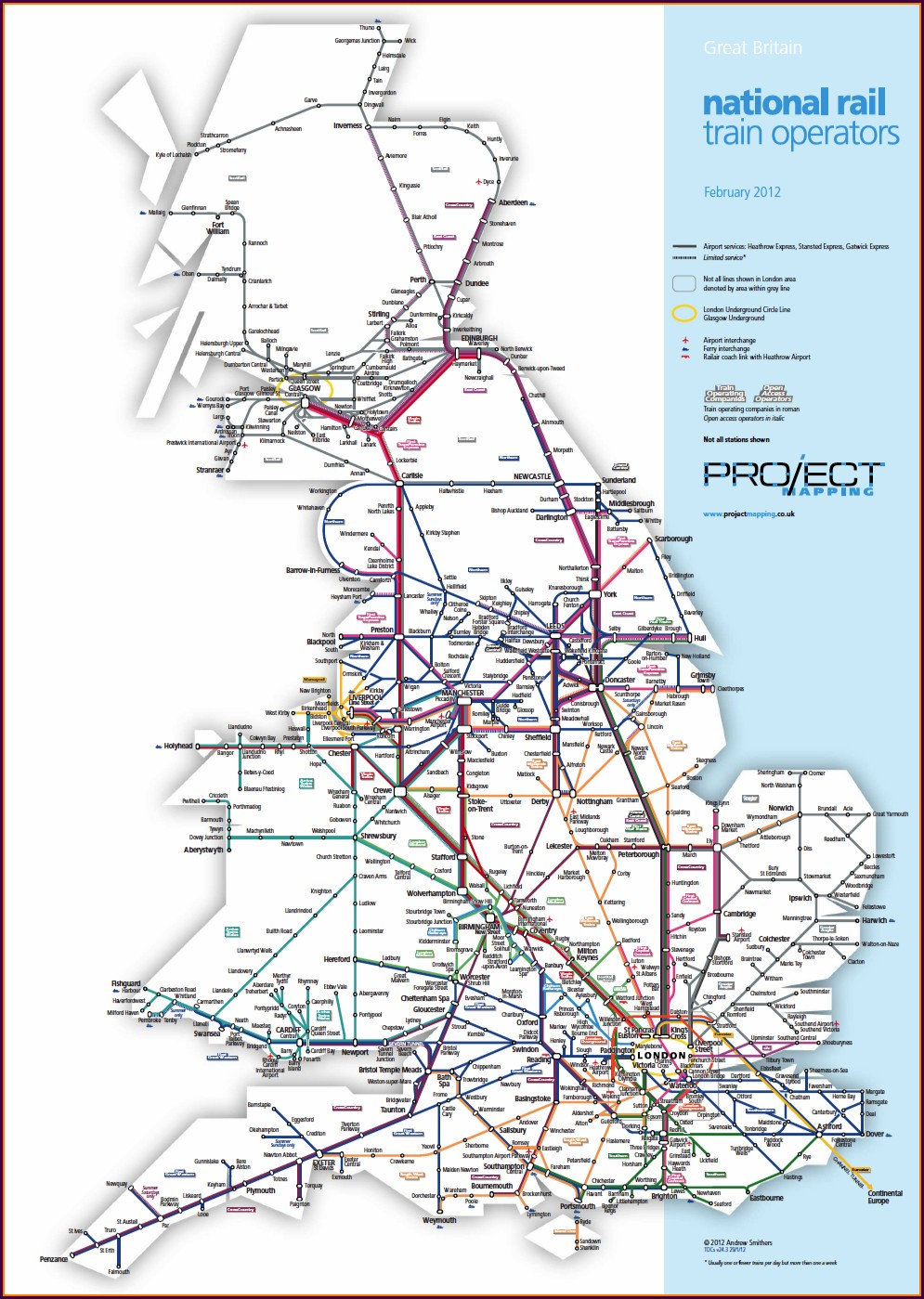 England National Rail Network Map