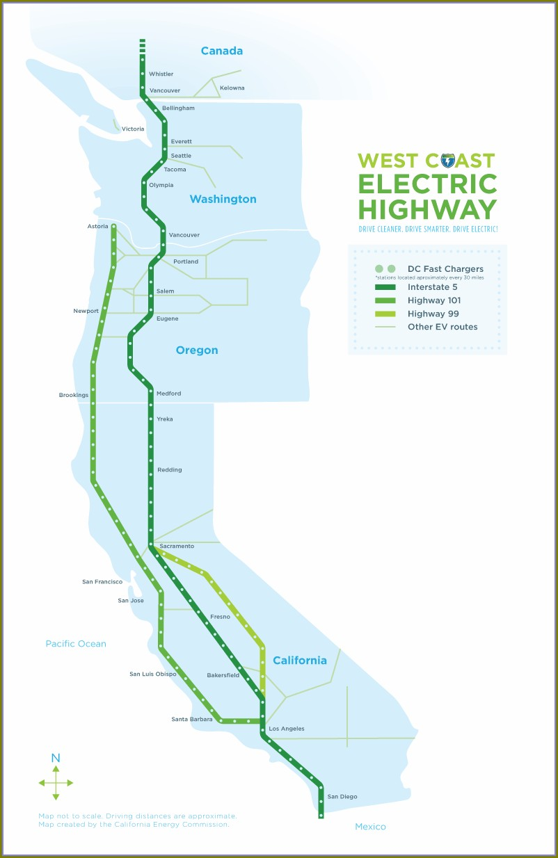 Ev Charging Stations California Map