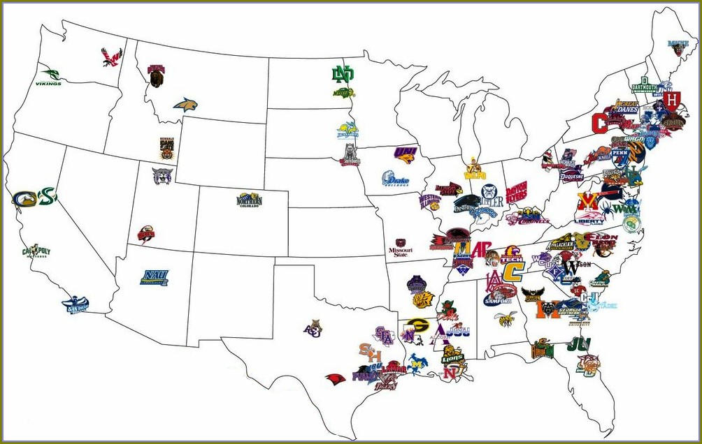 Fcs Football Teams Map