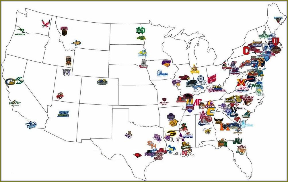 Fcs Football Teams Map