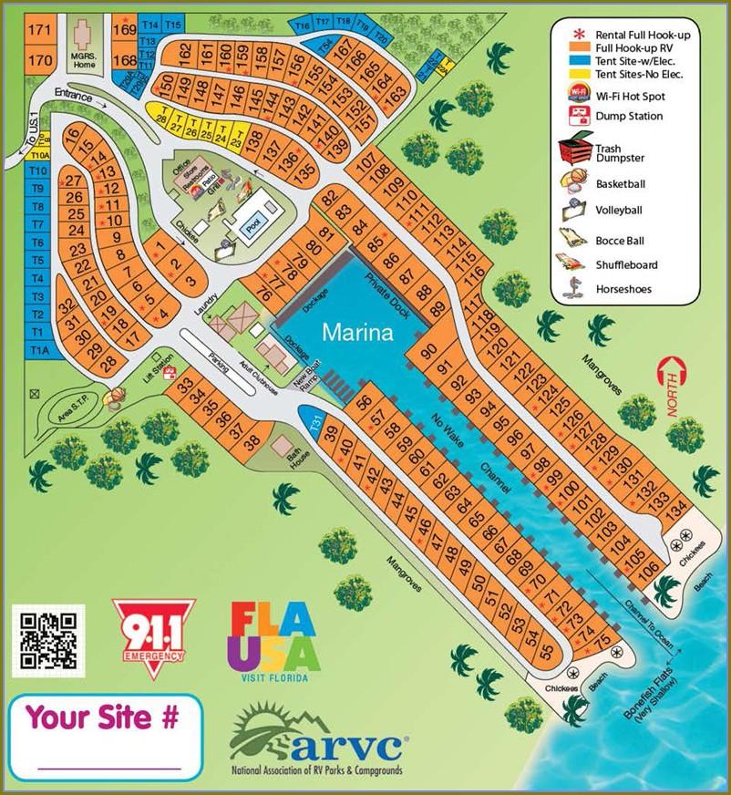 Fiesta Key Rv Resort Campground Map