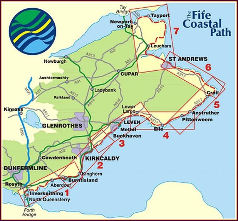 Fife Coastal Walk Map