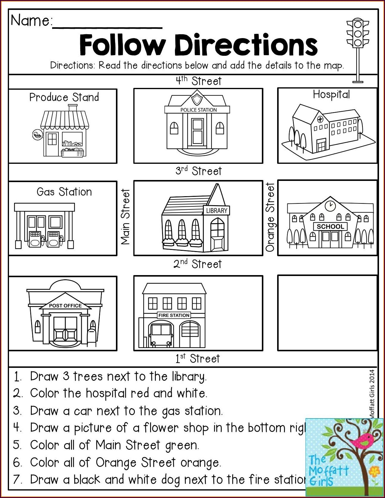 First Grade Map Worksheets For Grade 1