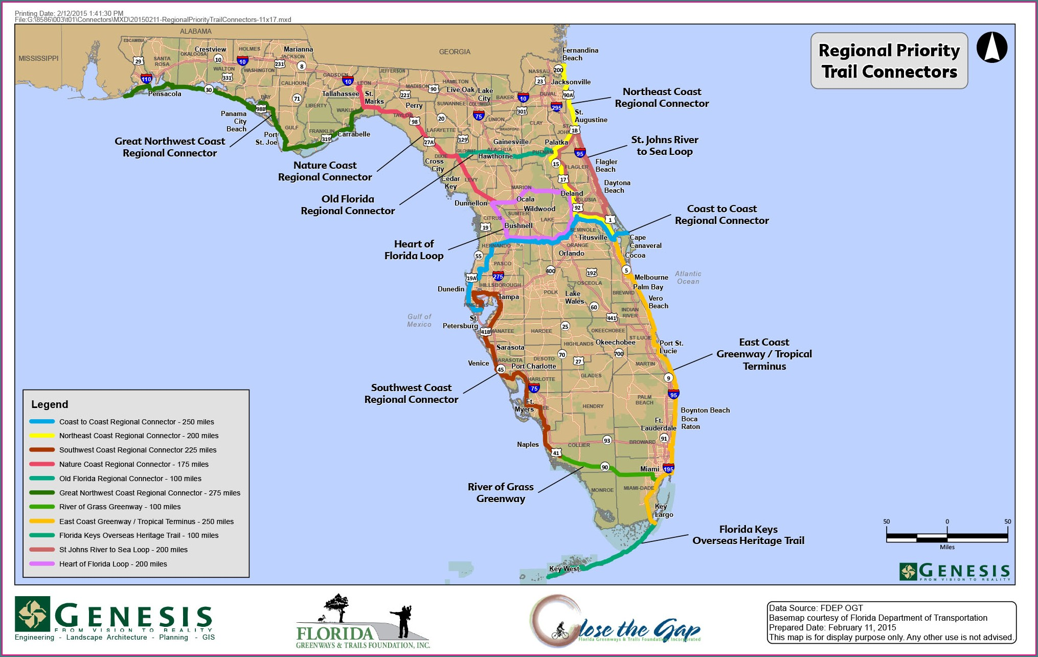 Florida Greenways And Trails Map