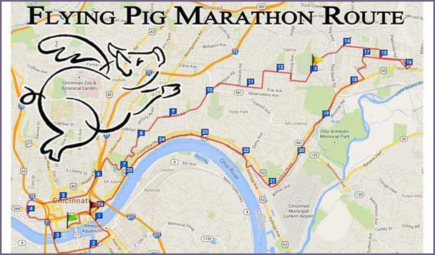 Flying Pig Marathon Map
