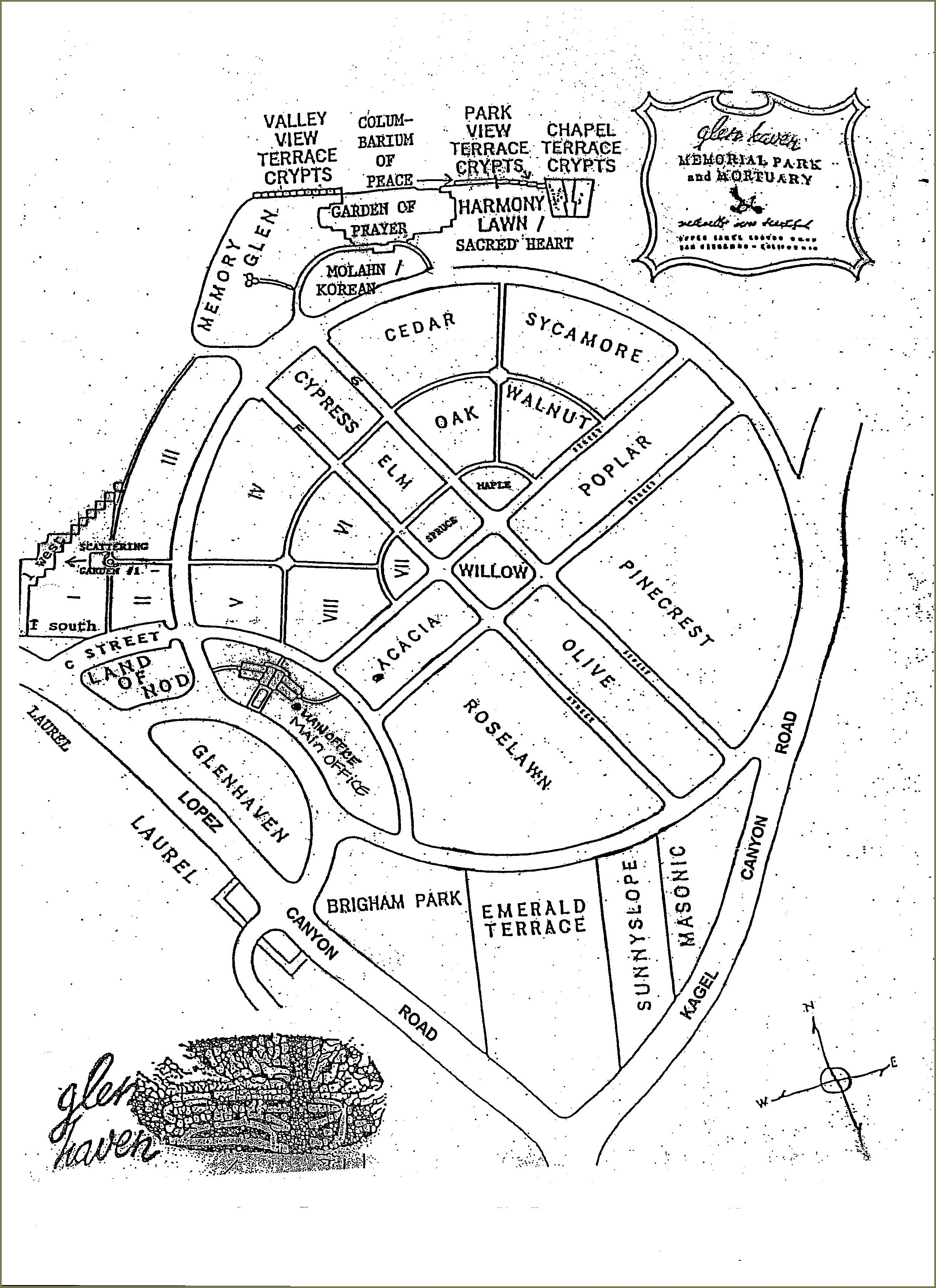 Forest Lawn Covina Map