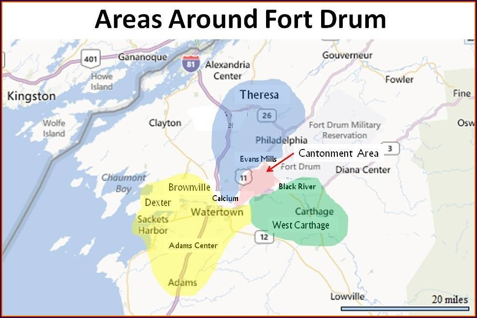 Fort Drum Housing Map