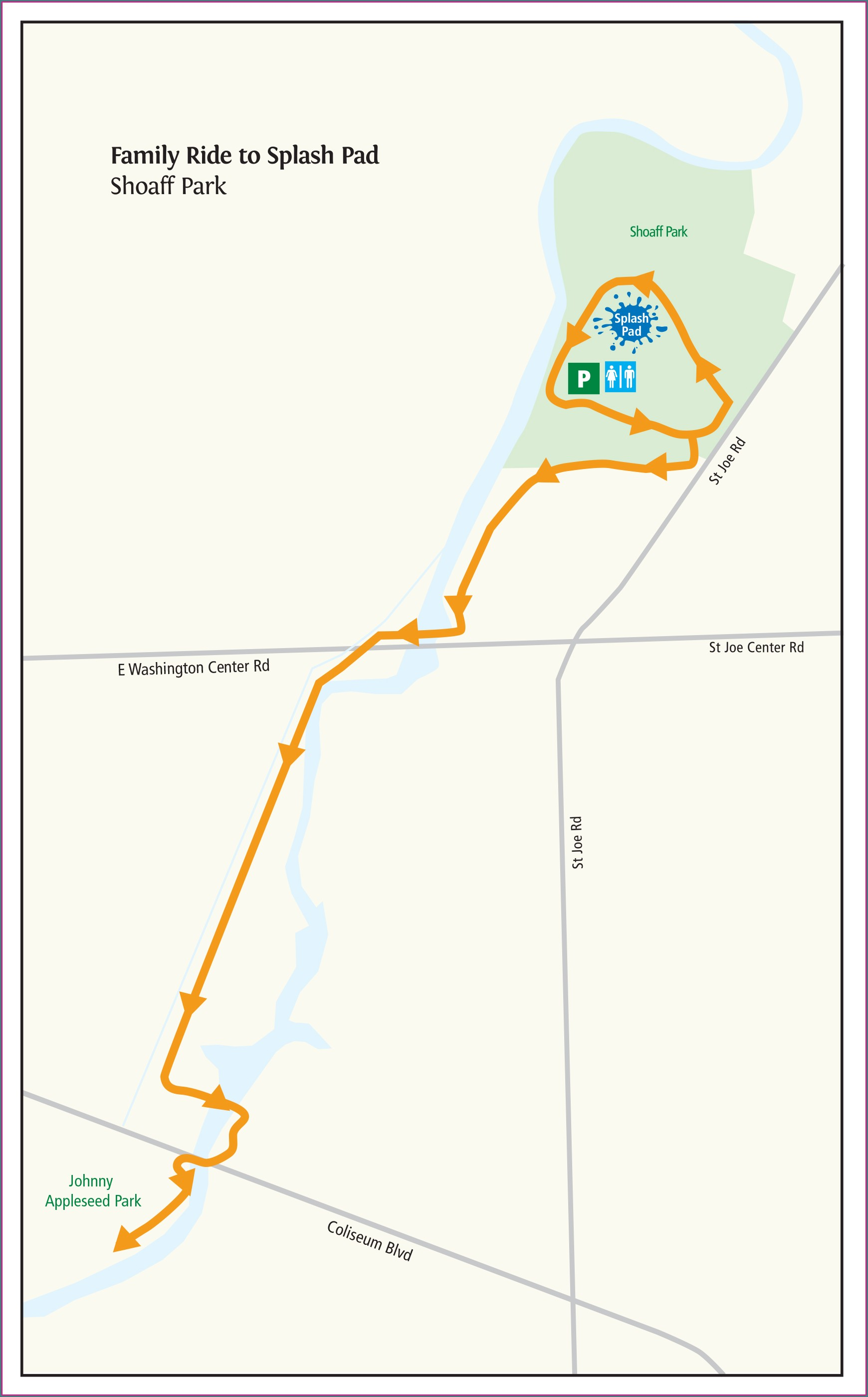 Fort Wayne Bike Trails Map