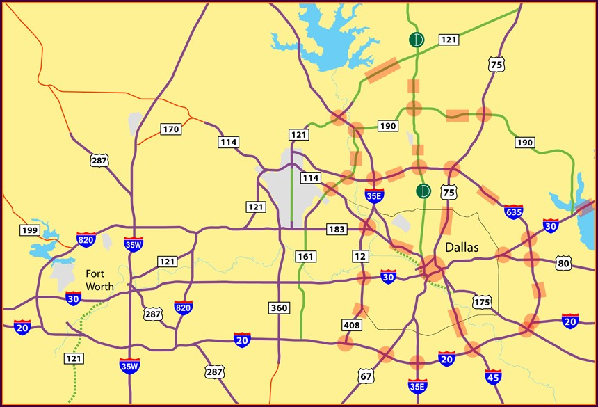 Fort Worth Toll Roads Map