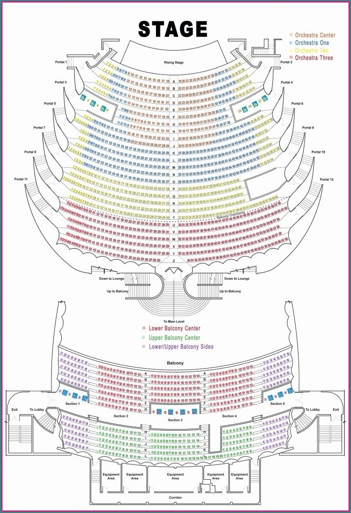 Fox Theater Oakland Seat Map