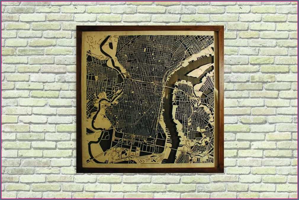 Framed Map Of Philadelphia