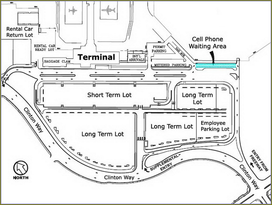Fresno Airport Parking Map
