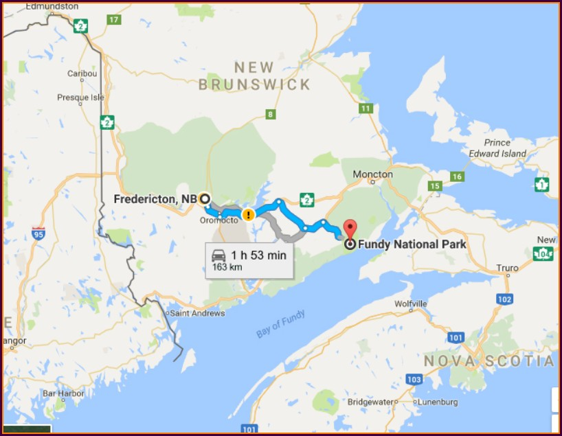 Fundy National Park Camping Map