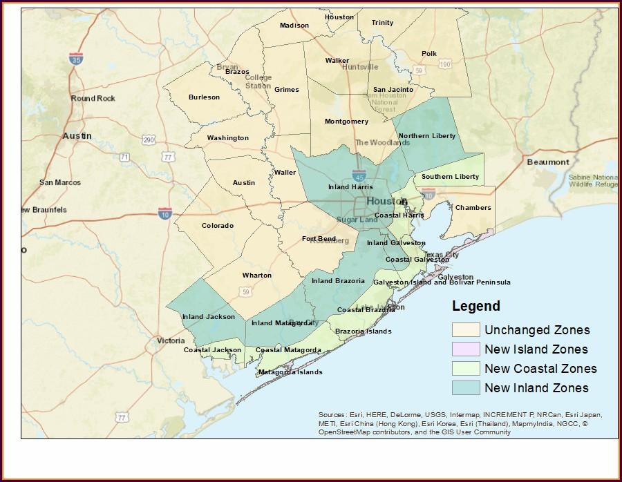 Galveston County Flood Zone Map