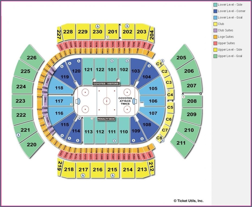 Gila River Arena Seat Map