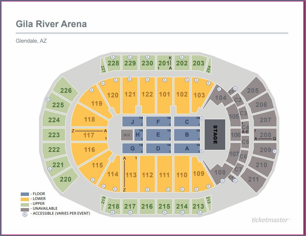 Gila River Seat Map