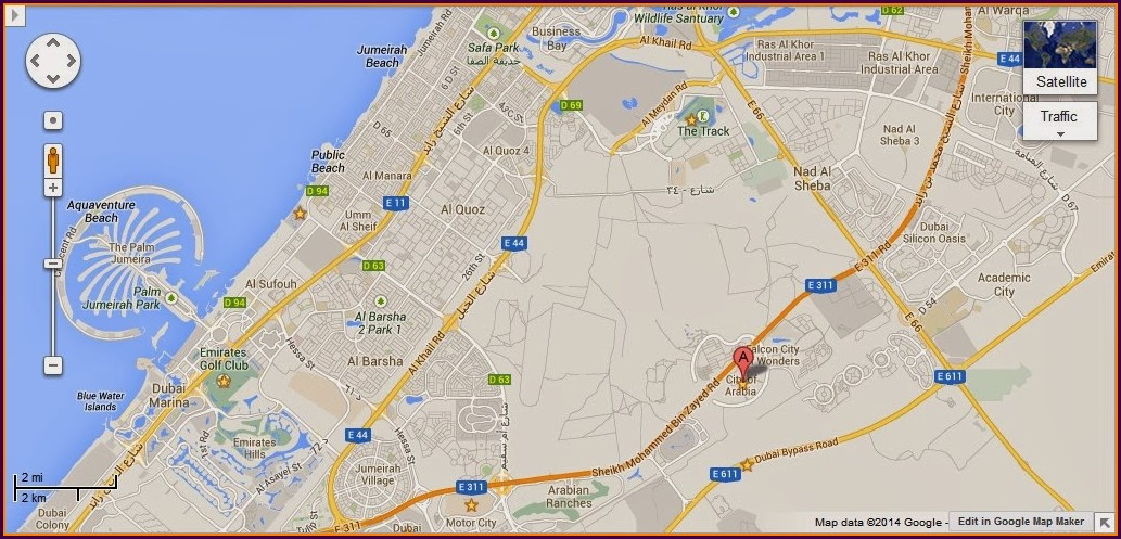Global Village Dubai Location Map