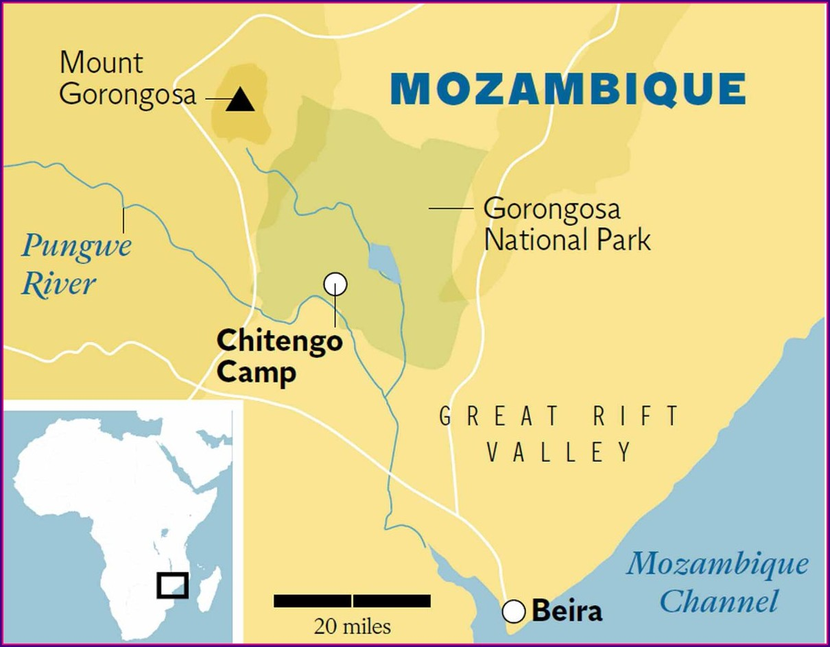 Gorongosa National Park Map