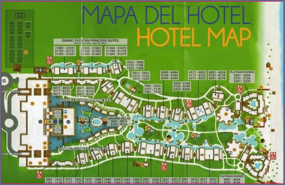 Grand Riviera Princess Mapa