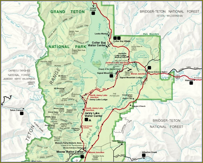 Grand Teton 42 Mile Loop Map