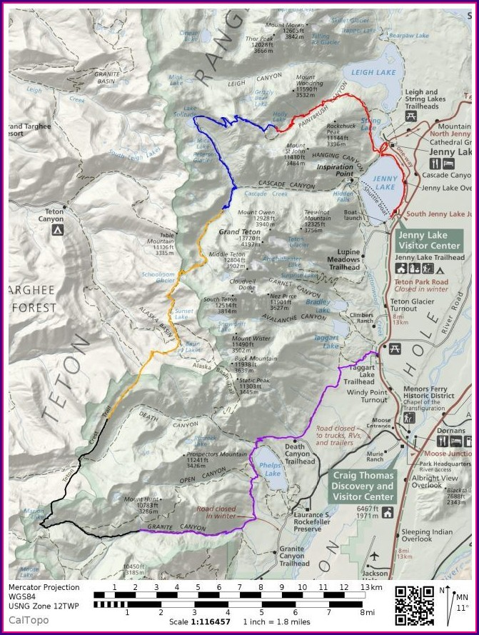 Grand Teton Trail Map Pdf