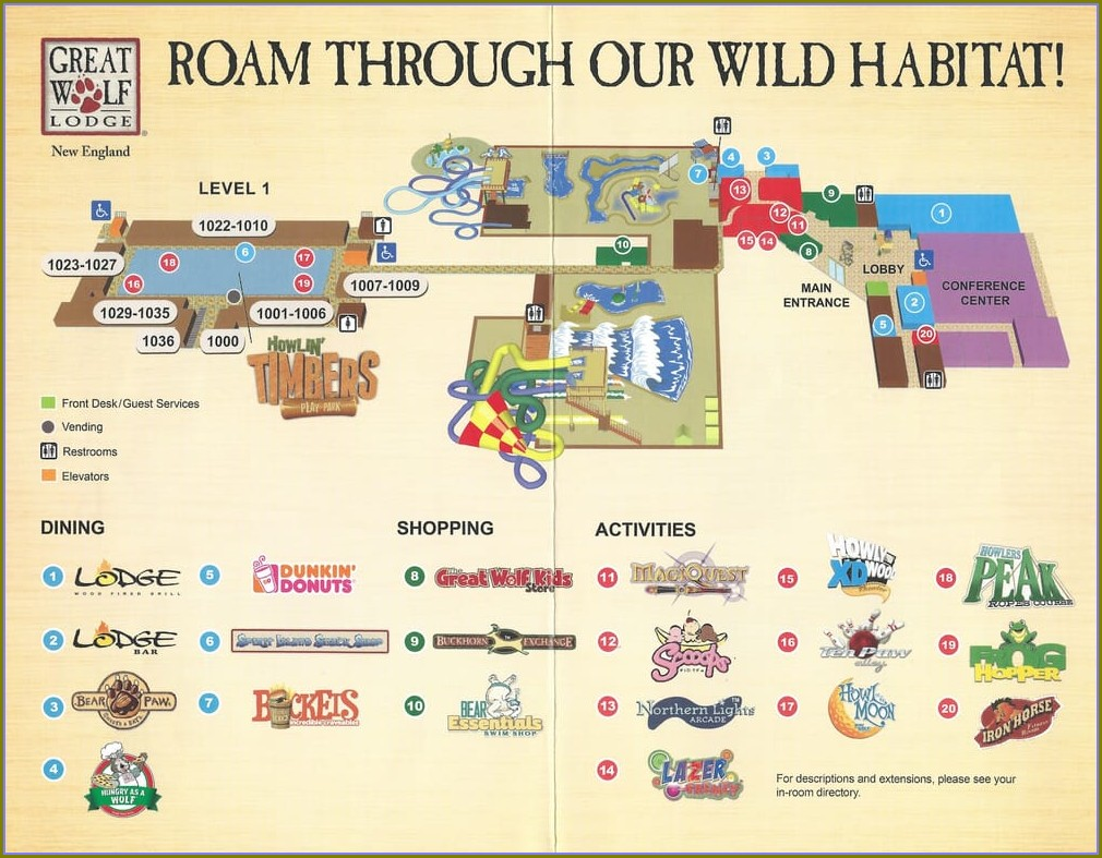 Great Wolf Lodge Sandusky Map