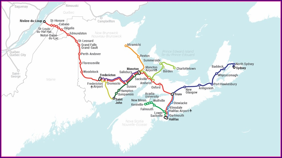 Greyhound Canada Route Map 2020