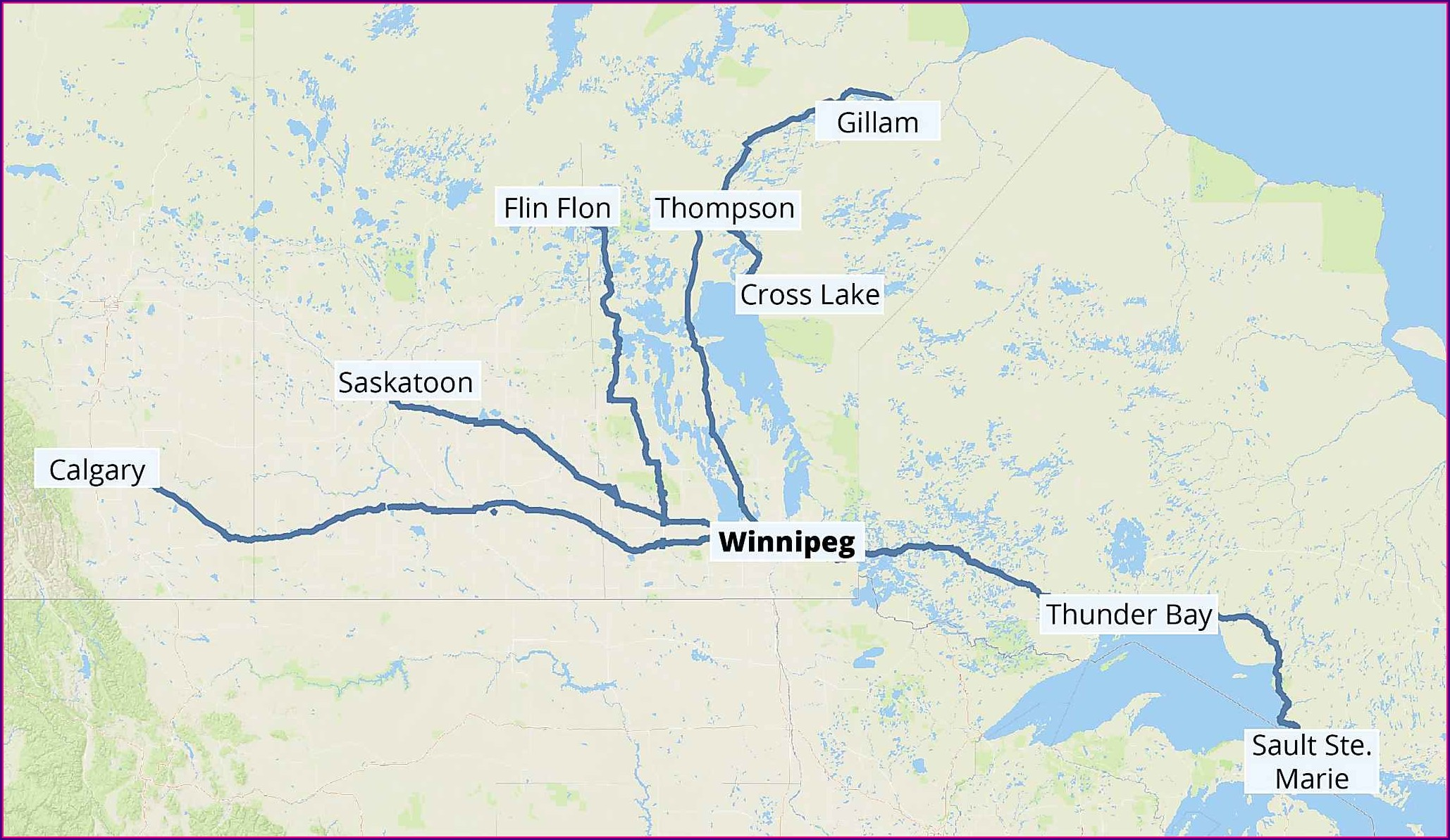 Greyhound Canada Route Map Bc