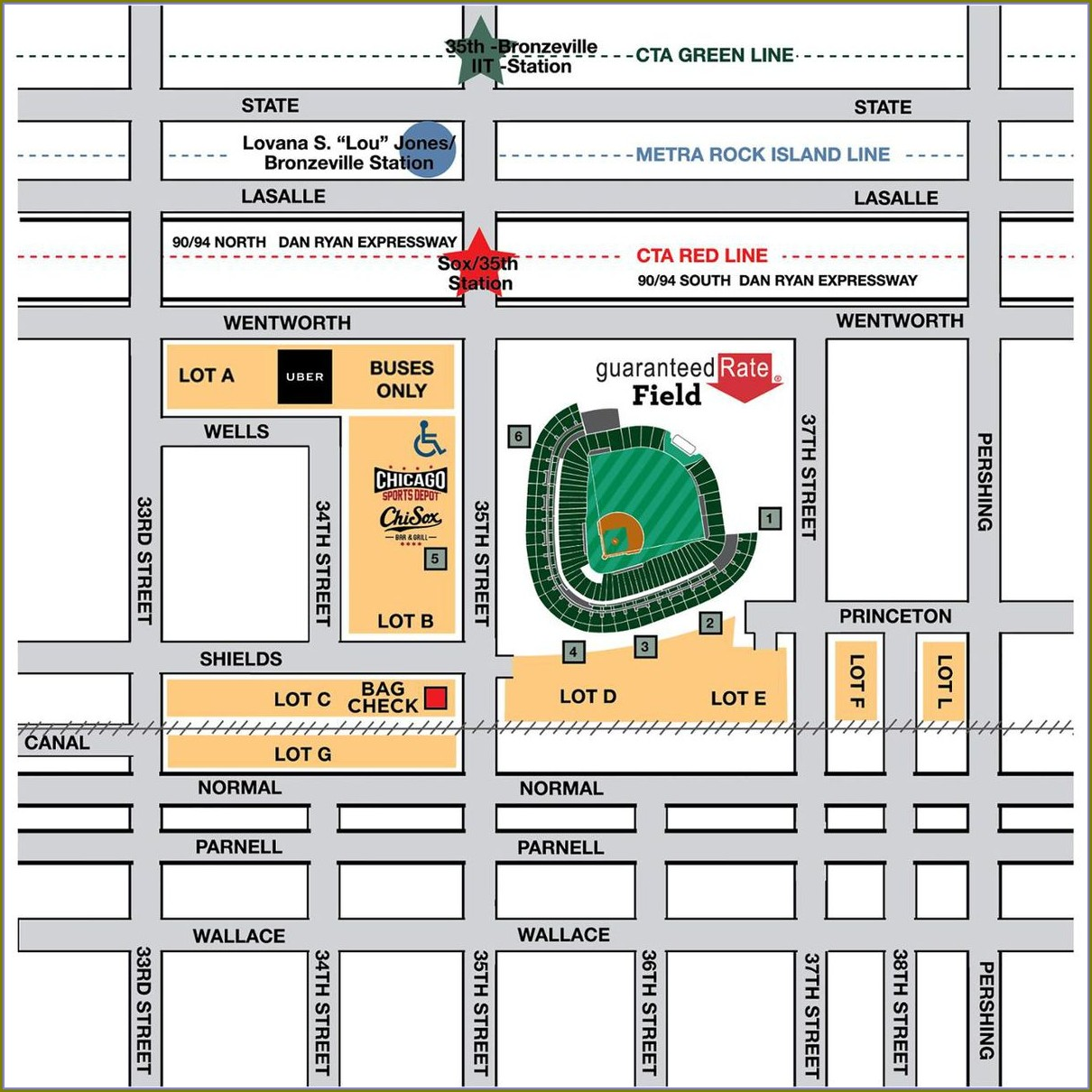Guaranteed Rate Field Seating Map