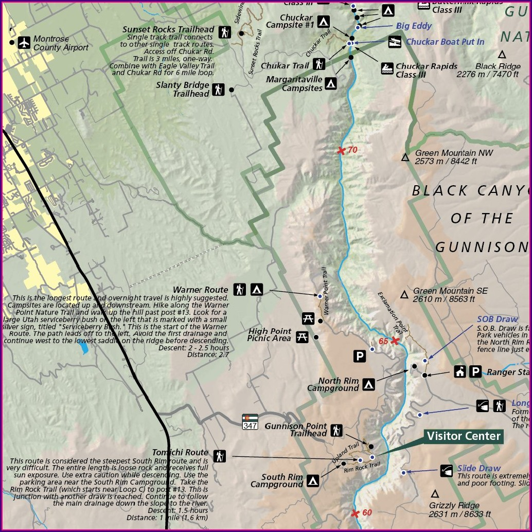 Gunnison River Fishing Map