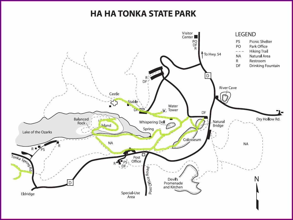 Ha Ha Tonka State Park Trail Map