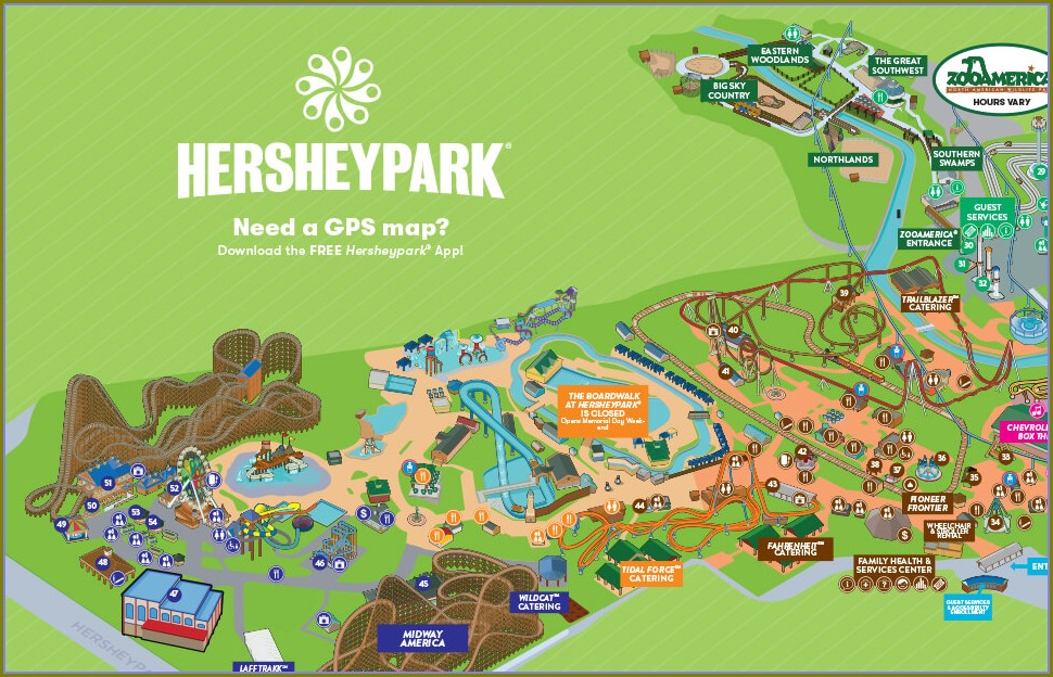 Hershey Pa Attractions Map