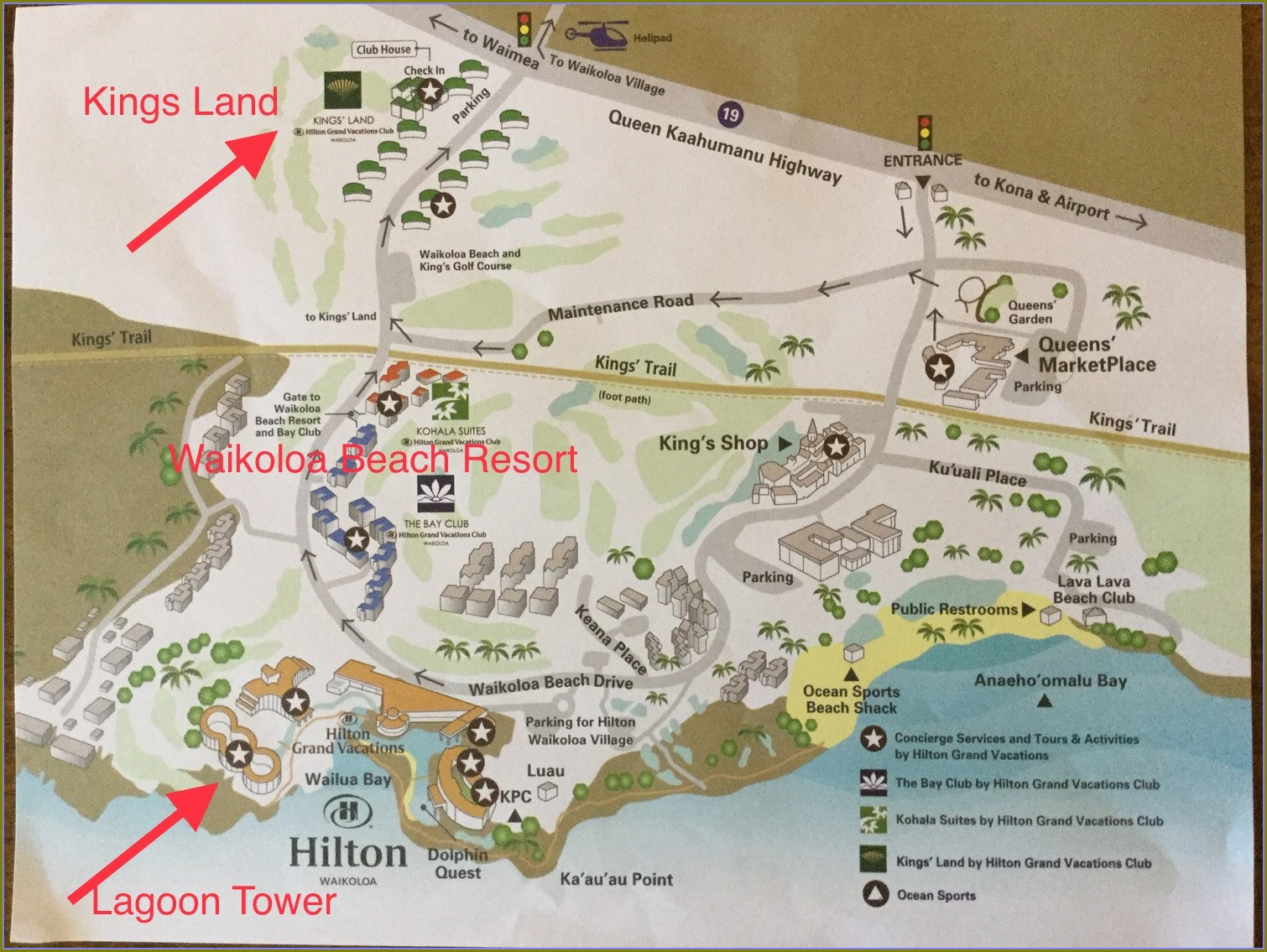 Hilton Kings Land Map