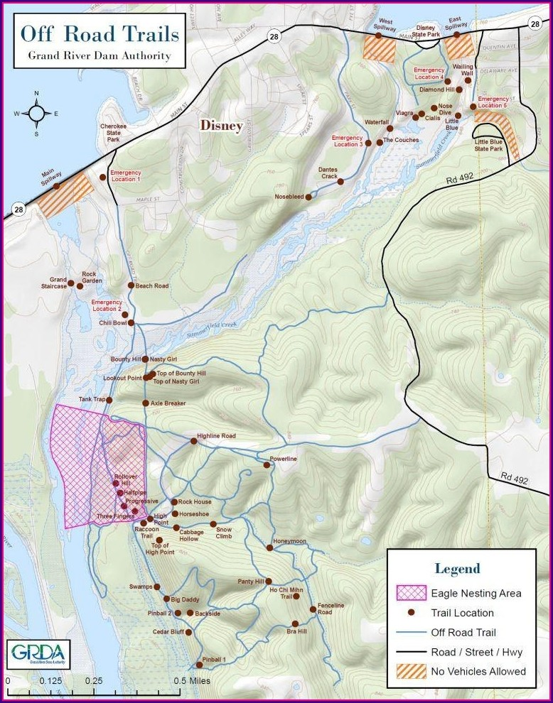 Hogan's Off Road Park Trail Map