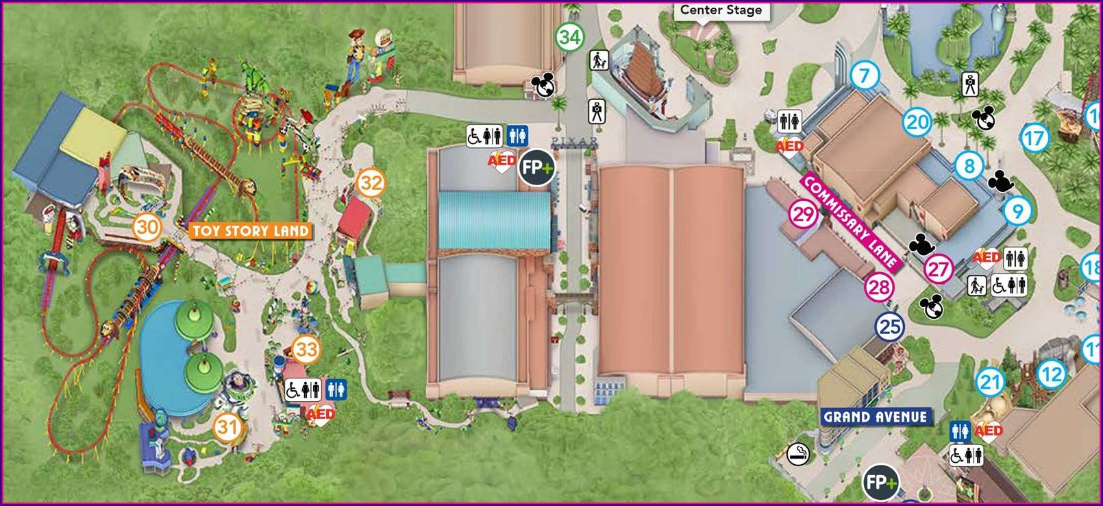 Hollywood Studios Toy Story Land Map