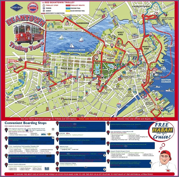 Hop On Hop Off Bus Boston Map