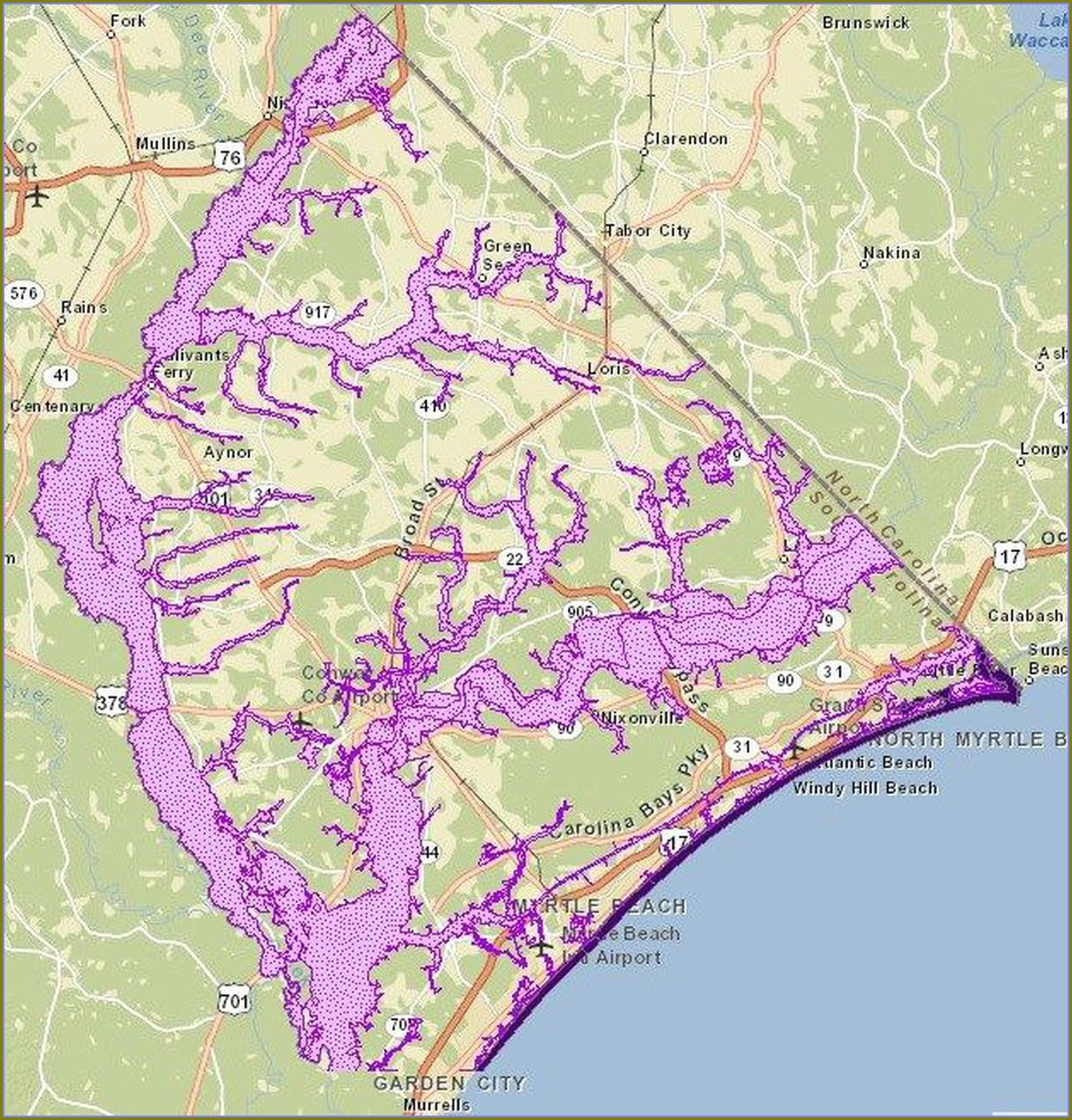 Horry County Sc Flood Zone Map