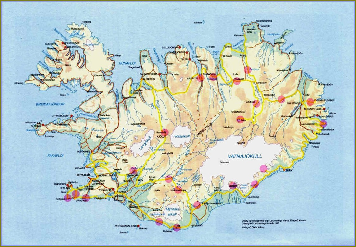 Hostels In Iceland Map