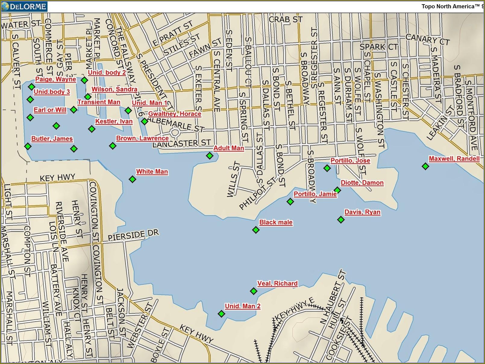 Hotels Baltimore Inner Harbor Map