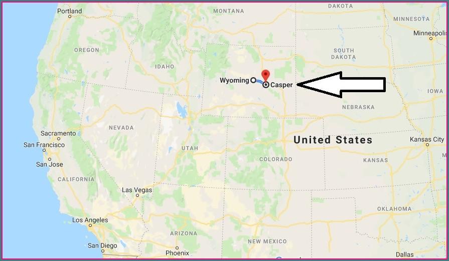 Hotels Casper Wy Map