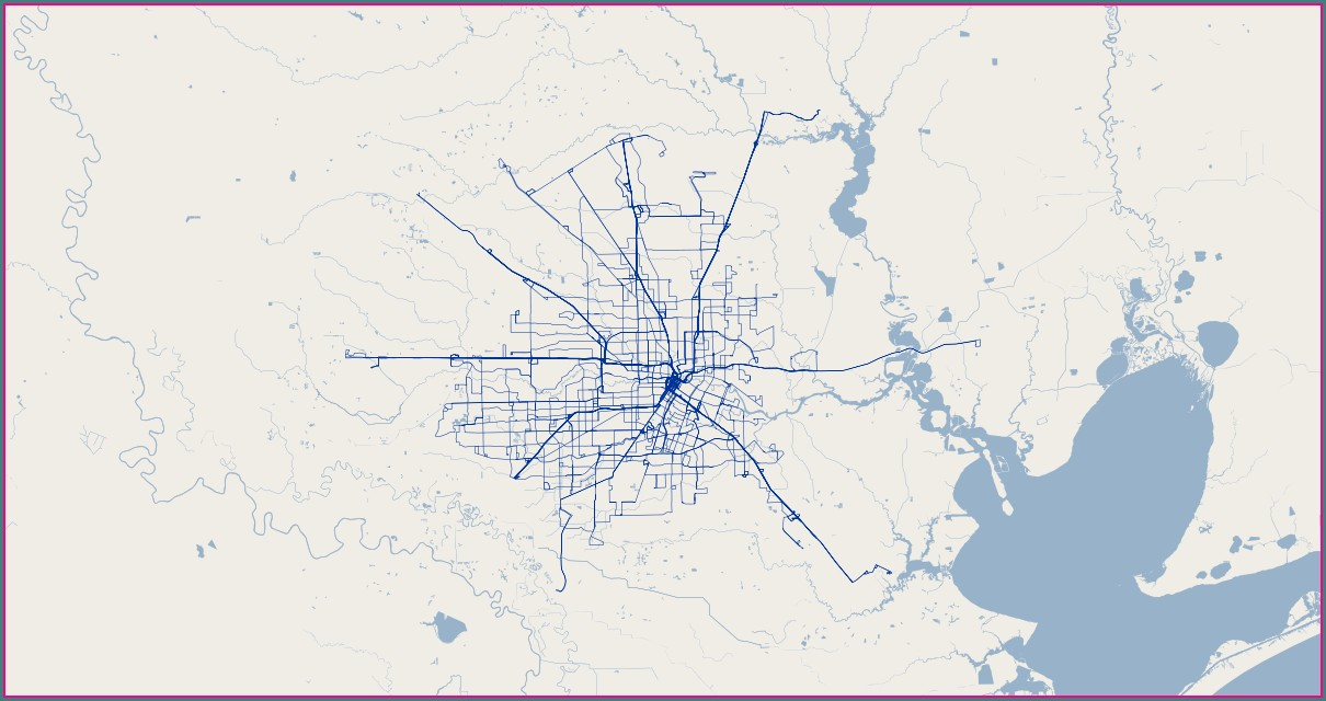 Houston Metro Bus Routes Map