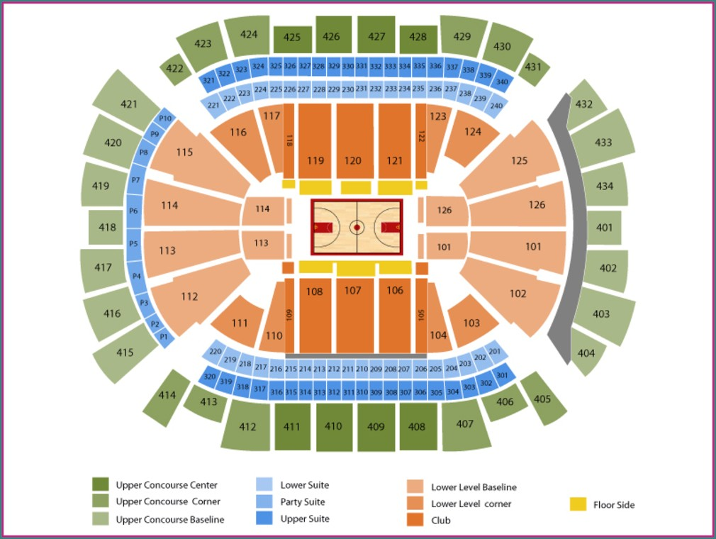 Houston Rockets Seat Map